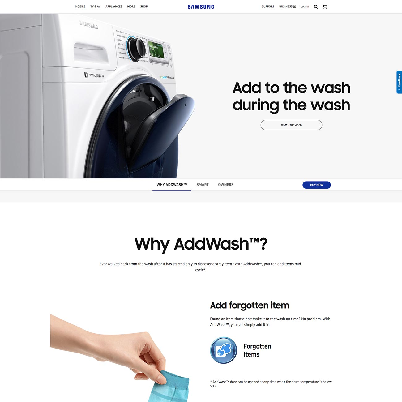 Samsung AddWash Washing Machines